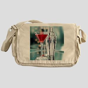 Red Martini Messenger Bag