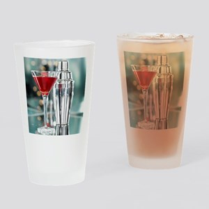 Red Martini Drinking Glass