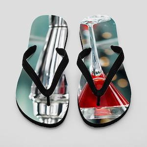 Red Martini Flip Flops