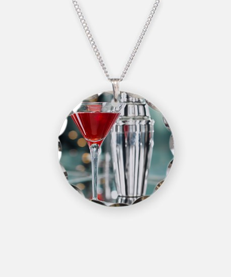 Red Martini Necklace