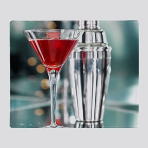 Red Martini Throw Blanket