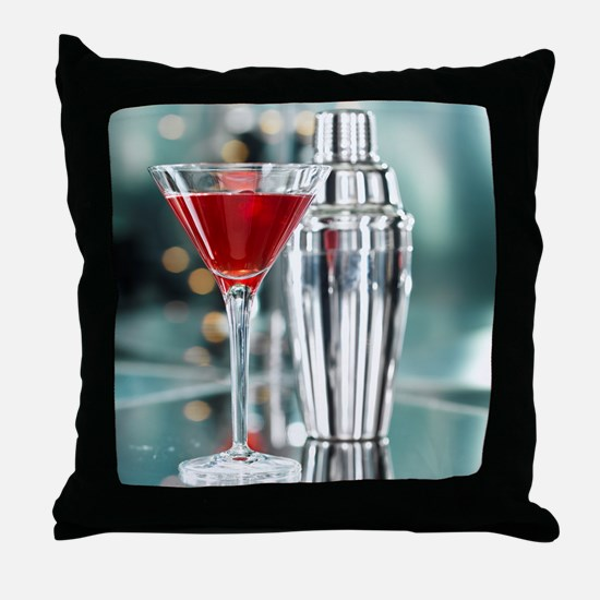 Red Martini Throw Pillow