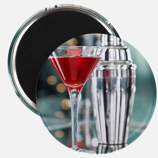 Red Martini Magnet
