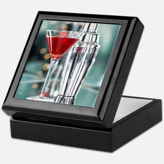 Red Martini Keepsake Box