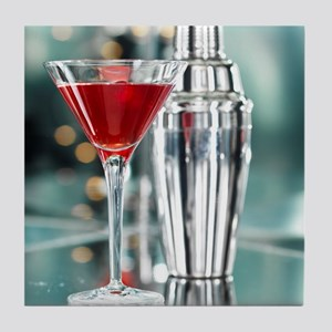 Red Martini Tile Coaster