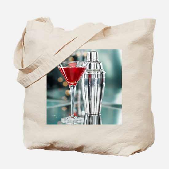 Red Martini Tote Bag