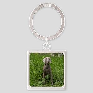 Portrait of Dog Square Keychain