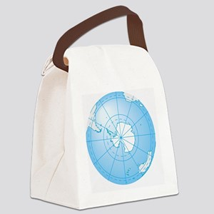 Illustration of Antarctica on glo Canvas Lunch Bag