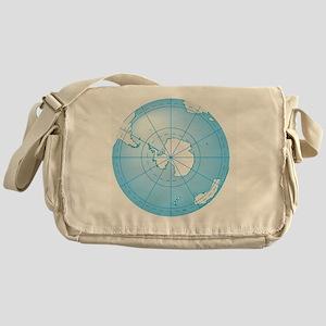 Illustration of Antarctica on globe Messenger Bag