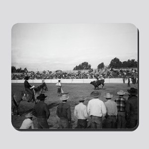 People watching a rodeo Mousepad