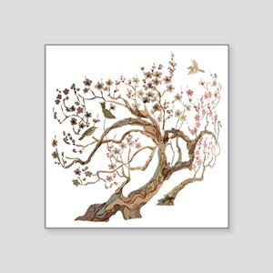 "A cherry blossom tree with  Square Sticker 3"" x 3"""