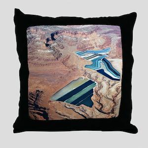 Tailings Ponds Throw Pillow