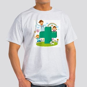 Portrait of doctor and two children  Light T-Shirt