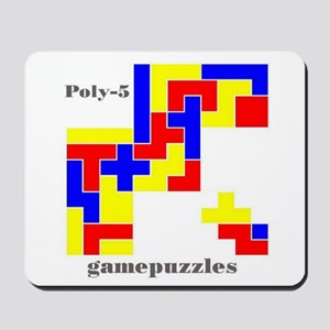 POLY-5 gamepuzzles Mousepad