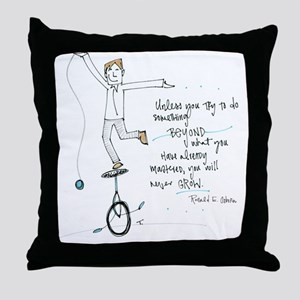 Keep Learning Throw Pillow
