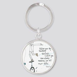 Keep Learning Round Keychain