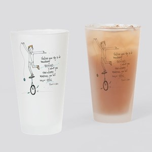 Keep Learning Drinking Glass