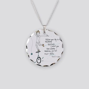 Keep Learning Necklace Circle Charm