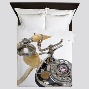 old-fashioned telephone Queen Duvet