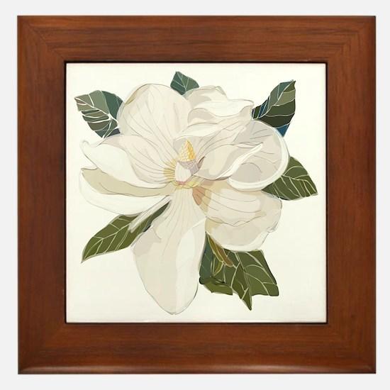 Funny Magnolia Framed Tile