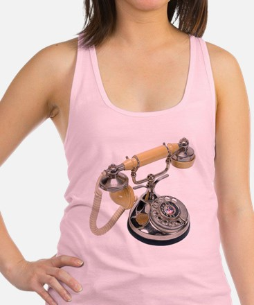old-fashioned telephone Racerback Tank Top