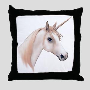 An illustration of a Unicorn Throw Pillow
