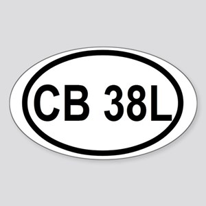 CB 38L  Sticker (Oval)