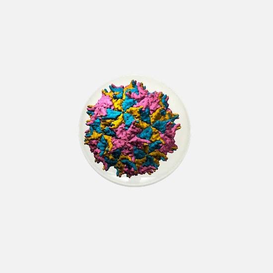 Nodamura virus particle, molecular mod Mini Button