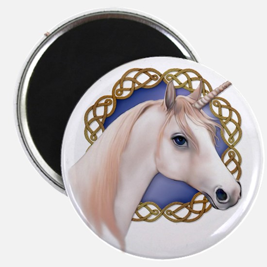 An illustration of a Unicorn with a Celtic Magnet