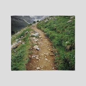 mountain path Throw Blanket
