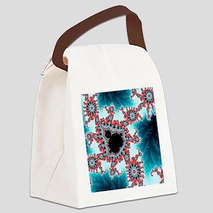 Mandelbrot fractal. Computer-gene Canvas Lunch Bag