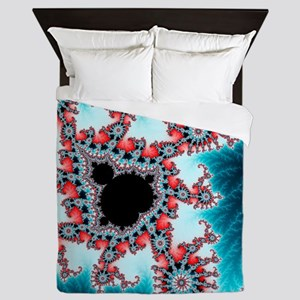 Mandelbrot fractal. Computer-generated Queen Duvet