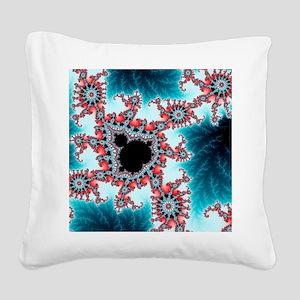 Mandelbrot fractal. Computer- Square Canvas Pillow