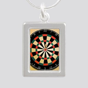 Dart in Bull's Eye on Da Silver Portrait Necklace