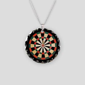 Dart in Bull's Eye on Dart B Necklace Circle Charm