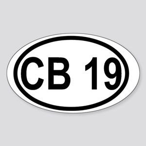 CB Channel 19 Sticker (Oval)