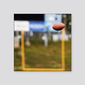 """Football in Mid-Air Square Sticker 3"""" x 3"""""""