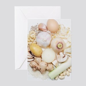 A selection of white fruits Greeting Card