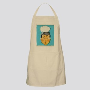 A retro style comic book portrait of a man Apron