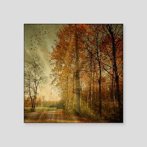 """Autumn Landscape. Square Sticker 3"""" x 3"""""""