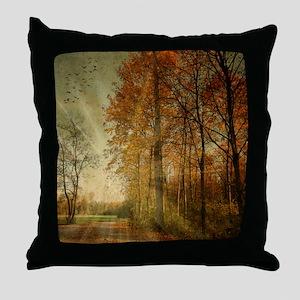 Autumn Landscape. Throw Pillow