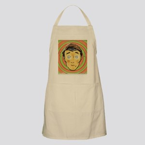 A retro style comic book portrait of a man u Apron