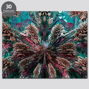 Mandelbulb fractal. A three-dimensional ana Puzzle