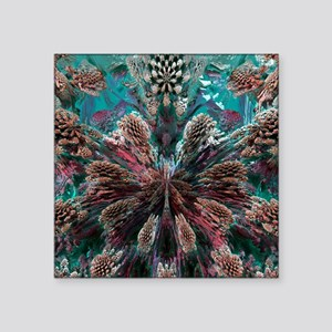 "Mandelbulb fractal. A three Square Sticker 3"" x 3"""