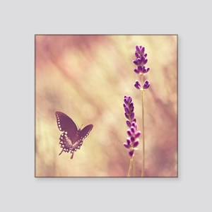"""Black swallowtail butterfly Square Sticker 3"""" x 3"""""""