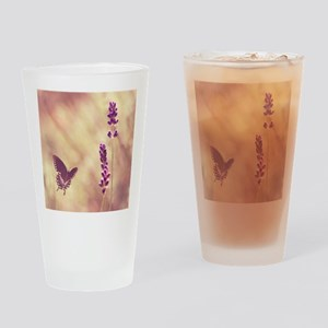 Black swallowtail butterfly flying  Drinking Glass