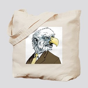 An illustration of a businessman with an  Tote Bag