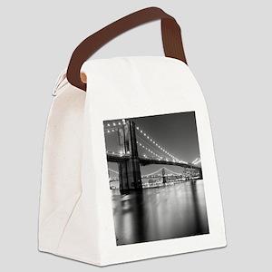 Brooklyn Bridge and Manhattan Bri Canvas Lunch Bag
