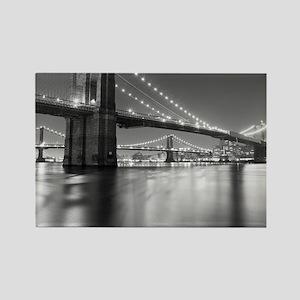 Brooklyn Bridge and Manhattan Bri Rectangle Magnet
