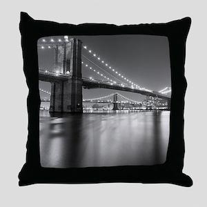 Brooklyn Bridge and Manhattan Bridge  Throw Pillow